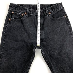 Levi's Jeans - Levi's 501 Black distressed high waist jeans